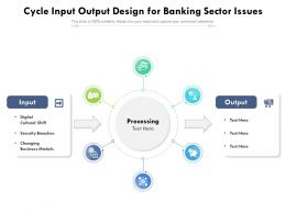 Cycle Input Output Design For Banking Sector Issues