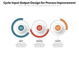 Cycle Input Output Design For Process Improvement