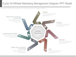 Cycle Of Affiliate Marketing Management Diagram Ppt Model
