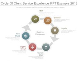 Cycle Of Client Service Excellence Ppt Example 2015