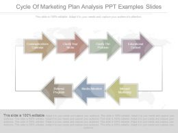 Cycle Of Marketing Plan Analysis Ppt Examples Slides
