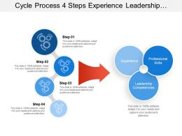 Cycle Process 4 Steps Experience Leadership Professional Skills