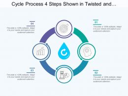 Cycle Process 4 Steps Shown In Twisted And Semi Circular Arrow Form