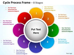 cycle process frame 8 stages powerpoint diagrams presentation slides graphics 0912