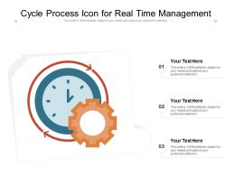 Cycle Process Icon For Real Time Management