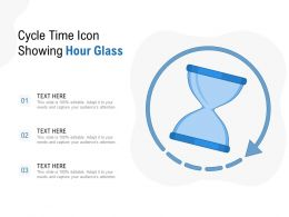 Cycle Time Icon Showing Hour Glass