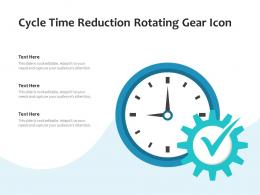 Cycle Time Reduction Rotating Gear Icon