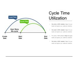 Cycle Time Utilization Powerpoint Slides Templates