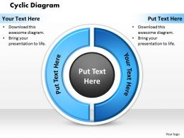 Cyclic Diagram PowerPoint Template Slide