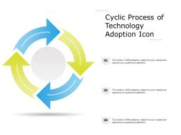 Cyclic Process Of Technology Adoption Icon