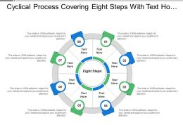 Cyclical Process Covering Eight Steps With Text Holders