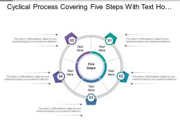 Cyclical Process Covering Five Steps With Text Holders
