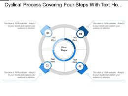 Cyclical Process Covering Four Steps With Text Holders