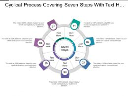 Cyclical Process Covering Seven Steps With Text Holders