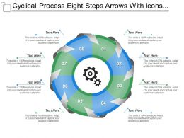 Cyclical Process Eight Steps Arrows With Icons And Textboxes