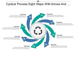 Cyclical Process Eight Steps With Arrows And Text Boxes