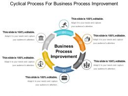 Cyclical Process For Business Process Improvement Ppt Example