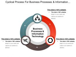 Cyclical Process For Business Processes And Information Technology Ppt Images