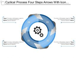 Cyclical Process Four Steps Arrows With Icons And Textboxes