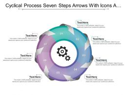 Cyclical Process Seven Steps Arrows With Icons And Textboxes