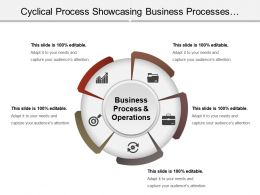 Cyclical Process Showcasing Business Processes And Operations Ppt Summary