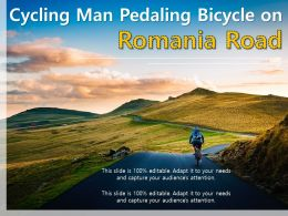 Cycling Man Pedaling Bicycle On Romania Road