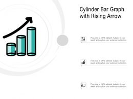 Cylinder Bar Graph With Rising Arrow