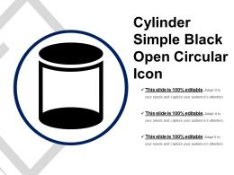 Cylinder Simple Black Open Circular Icon