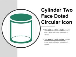 Cylinder Two Face Doted Circular Icon