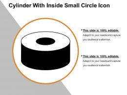 Cylinder With Inside Small Circle Icon