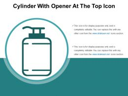 Cylinder With Opener At The Top Icon