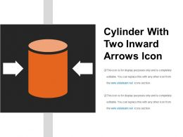 Cylinder With Two Inward Arrows Icon