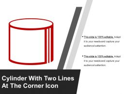 Cylinder With Two Lines At The Corner Icon