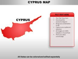 Cyprus Country Powerpoint Maps