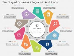 Cz Ten Staged Business Infographic And Icons Flat Powerpoint Design
