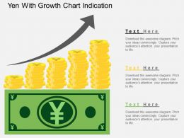 cz Yen With Growth Chart Indication Flat Powerpoint Design