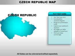 Czech Republic Country Powerpoint Maps