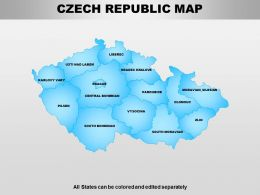 Czech Republic Powerpoint Maps