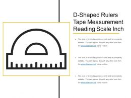 D Shaped Rulers Tape Measurement Reading Scale Inch