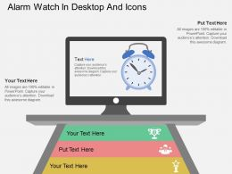 da Alarm Watch In Desktop And Icons Flat Powerpoint Design