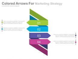 da Four Staged Colored Arrows For Marketing Strategy Flat Powerpoint Design
