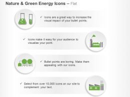 Da Green Energy Symbols Test Tube Factory And Machine Ppt Icons Graphics