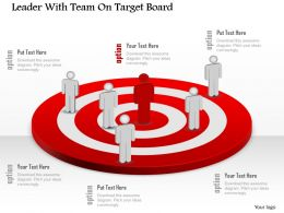 Da Leader With Team On Target Board Powerpoint Template