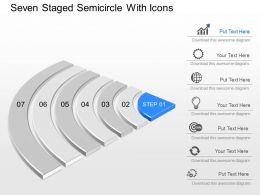 Da Seven Staged Semicircle With Icons Powerpoint Template