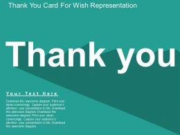 Da Thank You Card For Wish Representation Flat Powerpoint Design