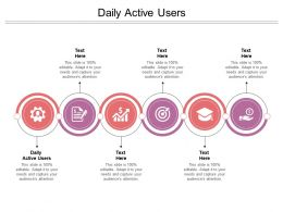 Daily Active Users Ppt Powerpoint Presentation Portfolio Example Cpb