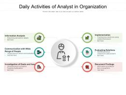 Daily Activities Of Analyst In Organization