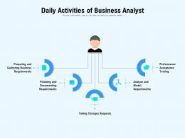 Daily Activities Of Business Analyst