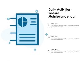 Daily Activities Record Maintenance Icon