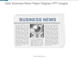 Daily Business News Paper Diagram Ppt Images